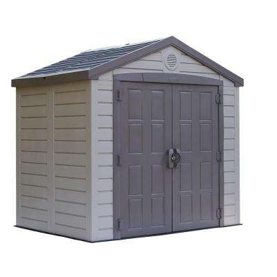 Keter Sunterrace 8 ft. x 6 ft. Resin Outdoor Storage Shed