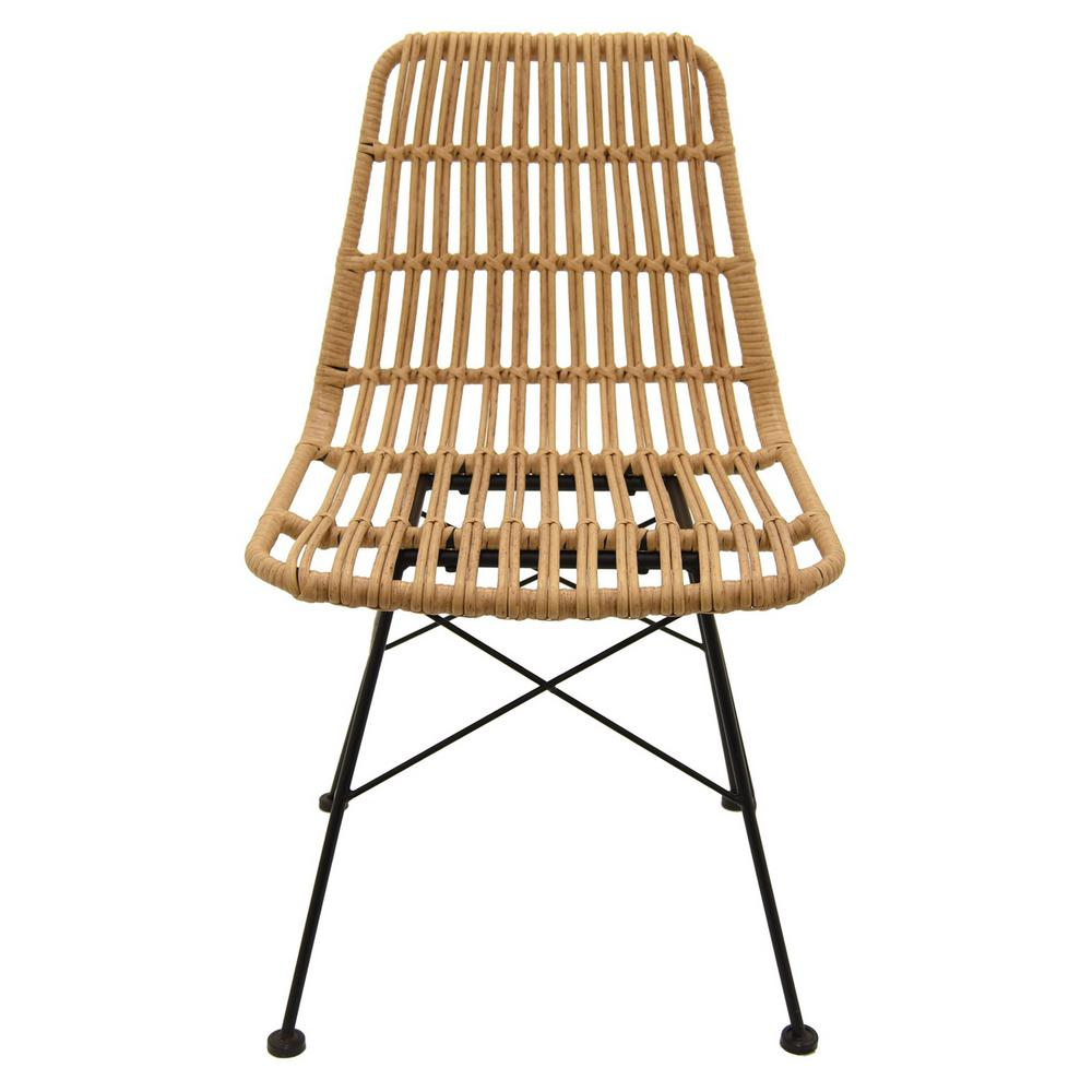 Three Hands 19 In X 23 In Brown Metal Plastic Chair