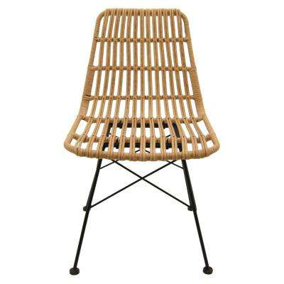 19 in. x 23 in. Brown Metal/Plastic Chair