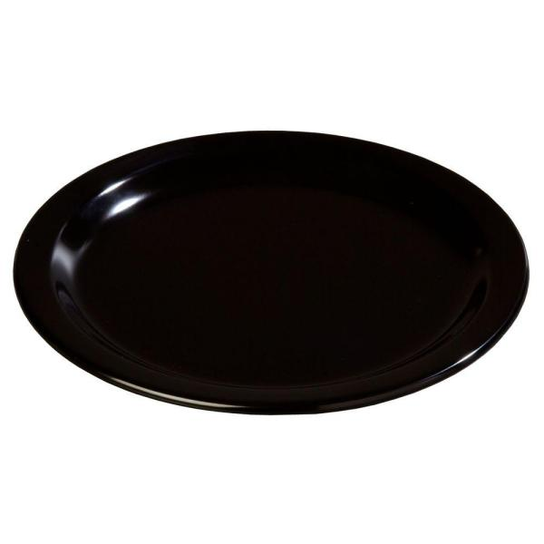 Carlisle 9 in. Diameter Melamine Dinner Plate in Black (Case of