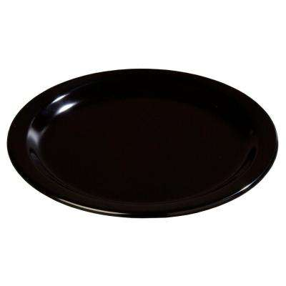 9 in. Diameter Melamine Dinner Plate in Black (Case of 48)
