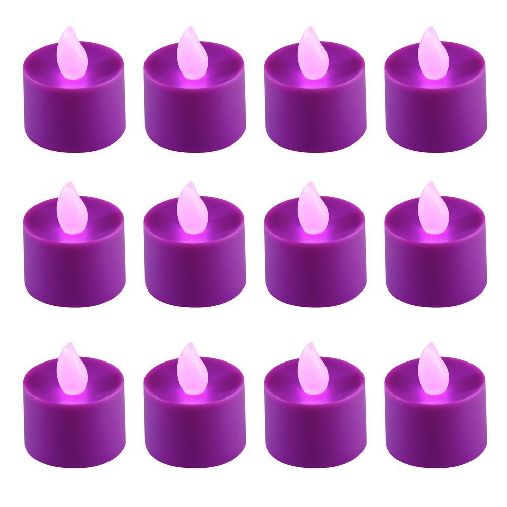 Purple LED Tealights (Box of 12)