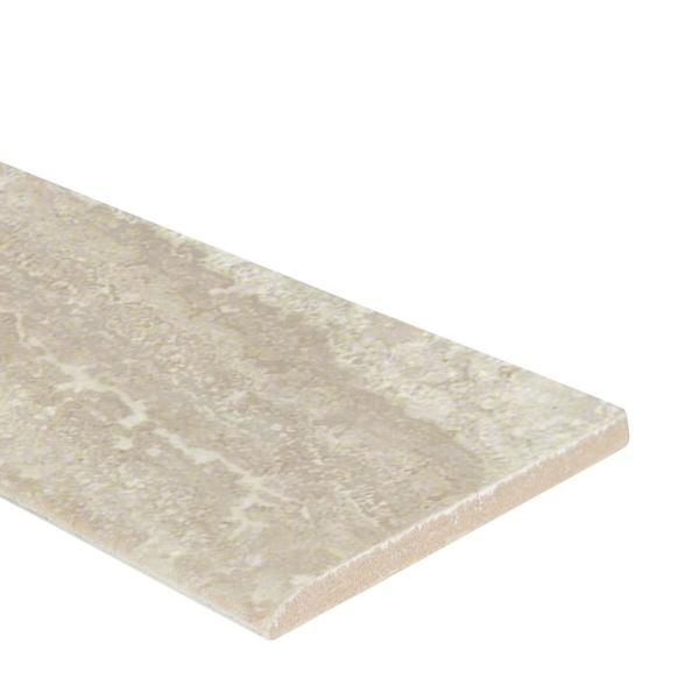 Sigaro Ivory Bullnose 3 in. x 18 in. Matte Porcelain Wall Tile (15 lin. ft. / case)