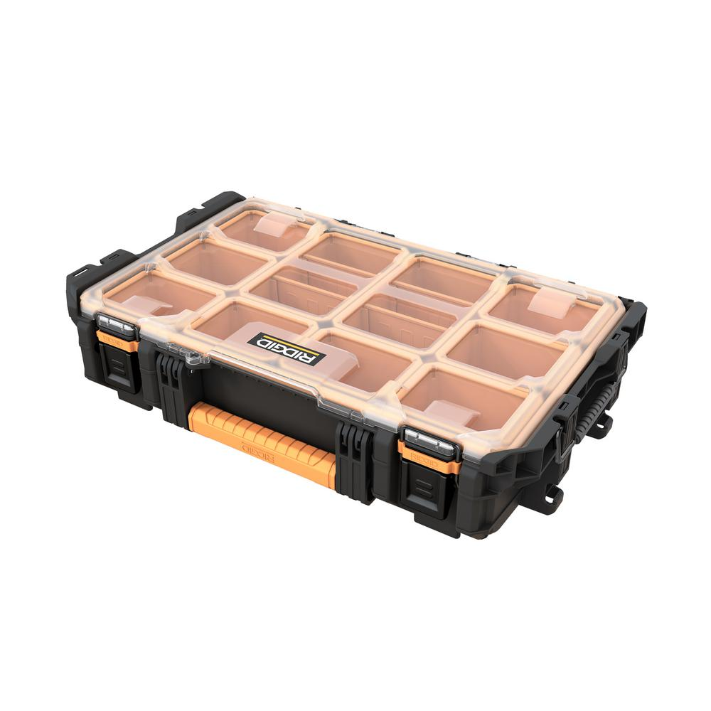 RIDGID Pro System Gear 10-Compartment Small Parts Organizer