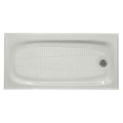 Salient 60 in. x 30 in. Single Threshold Shower Base in Sea Salt