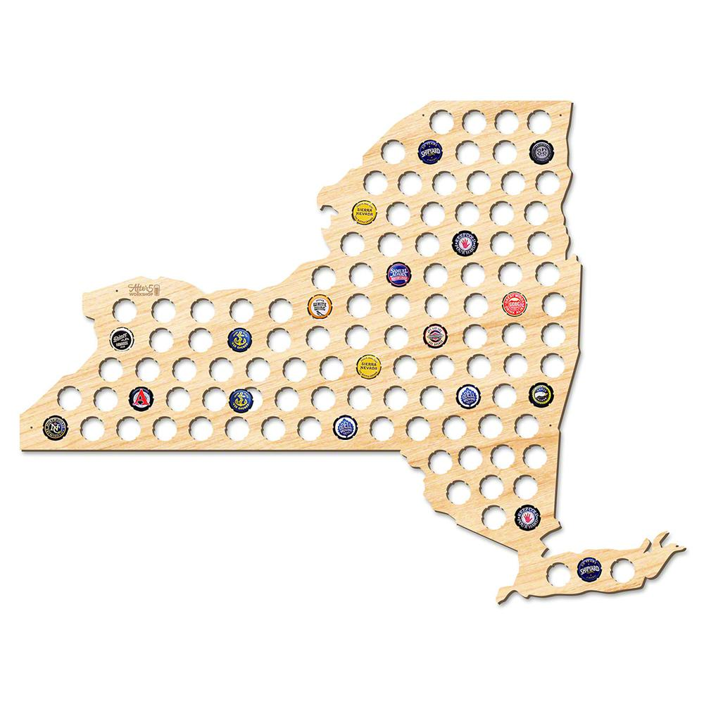 """New York Beer Cap Map"" Giant XL Wall Decor"