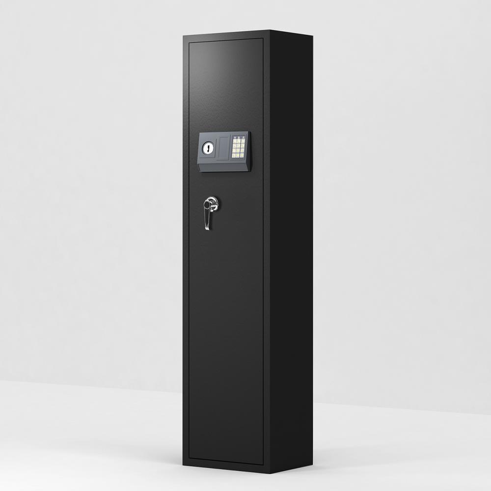 Black Large Storage Cabinet with Electronic Lock