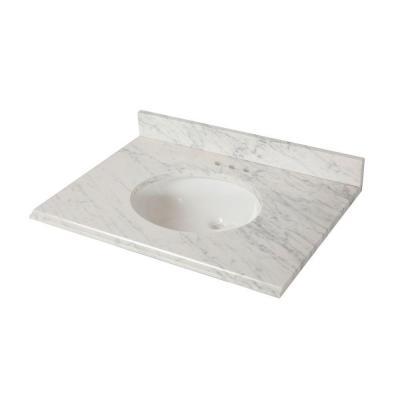 31 in. x 22 in. Stone Effects Vanity Top in Cascade with White Sink