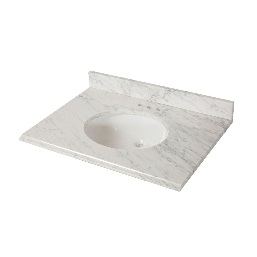This Review Is From:31 In. X 22 In. Stone Effects Vanity Top With Basin In  Cascade