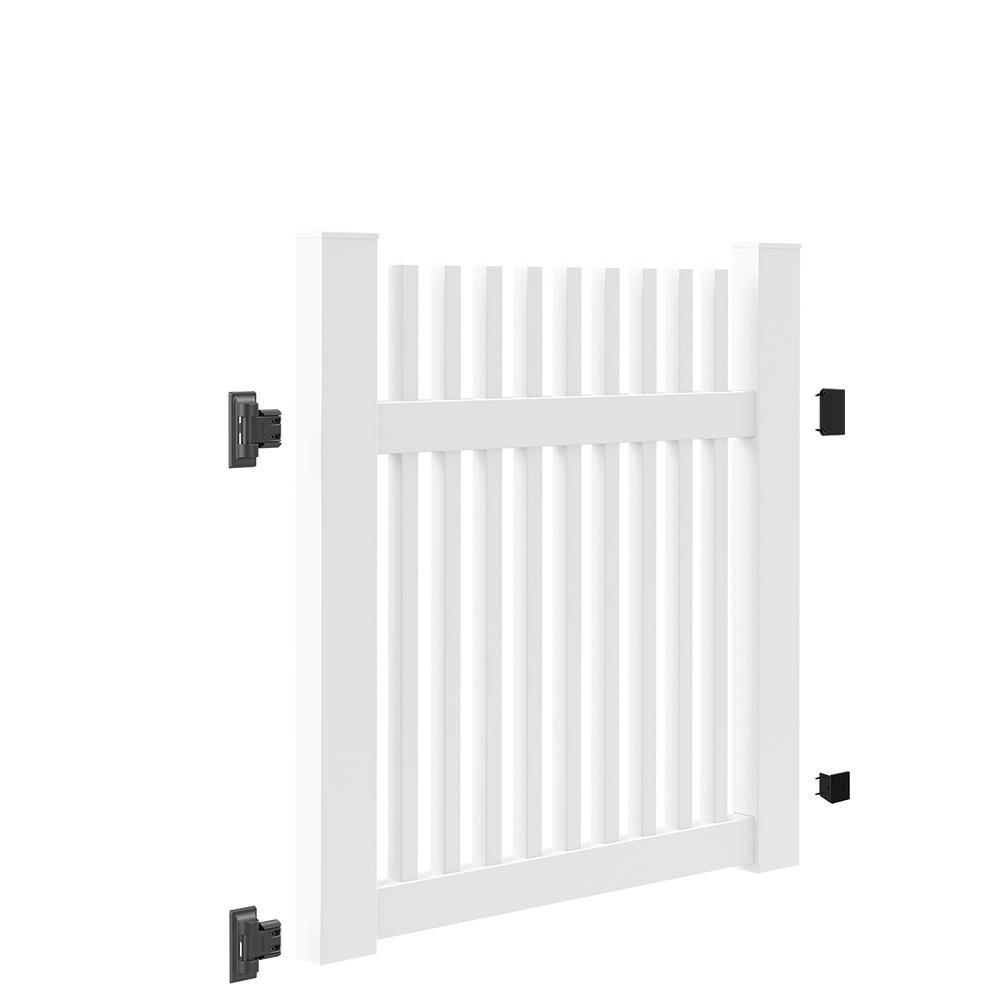 Ottawa Straight 4 ft. W x 4 ft. H White Vinyl Un-Assembled Fence Gate