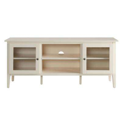Arbor White Large TV Stand