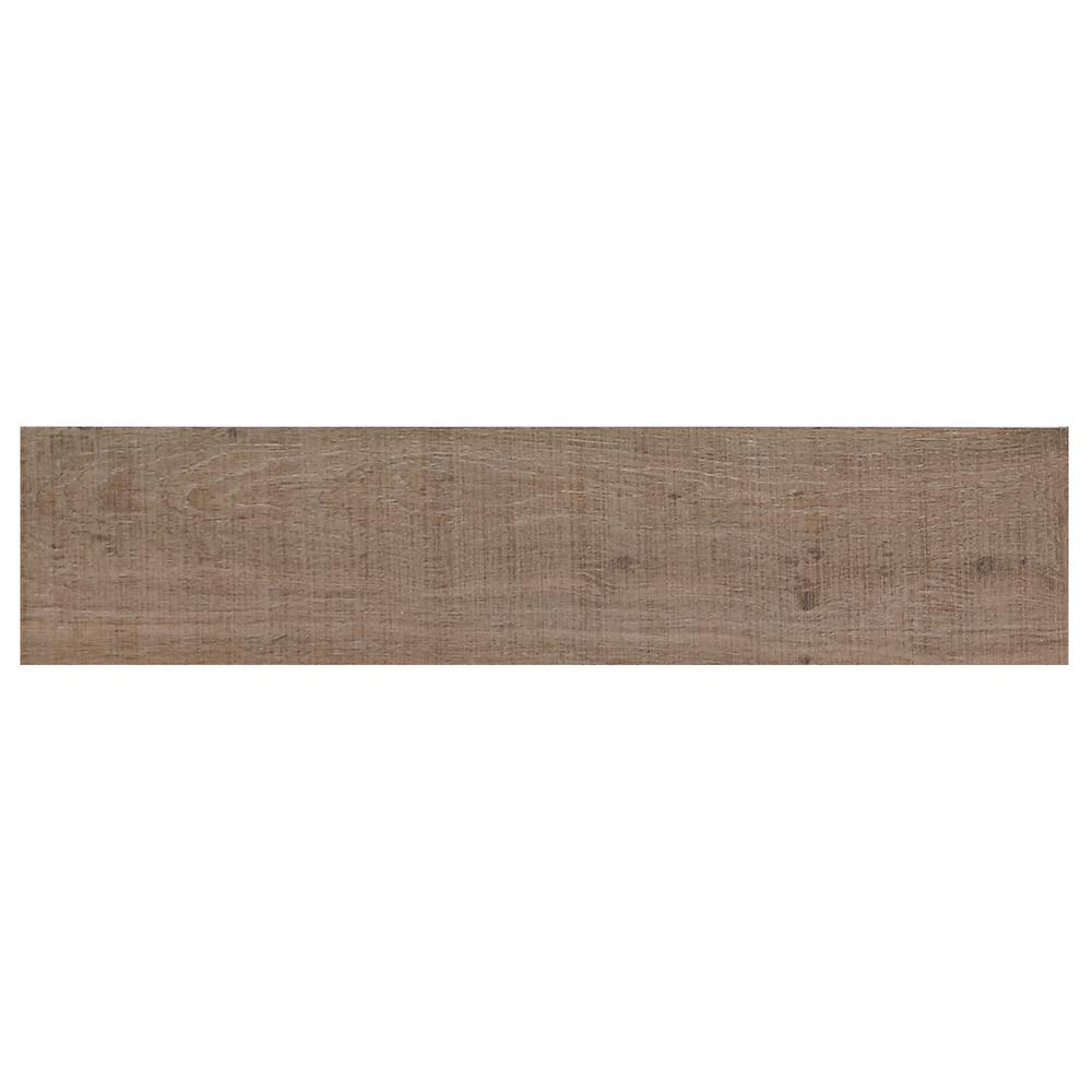 Bentonwood Cocoa 6 in. x 26 in. Ceramic Floor and Wall Tile (16.65 ...