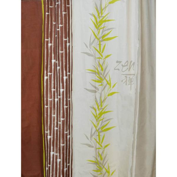 Jade 71 in. x 79 in.Multicolored Polyester Printed Fabric Shower Curtain