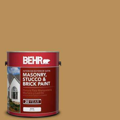 1 gal. #PFC-30 Clay Terrace Satin Interior/Exterior Masonry, Stucco and Brick Paint