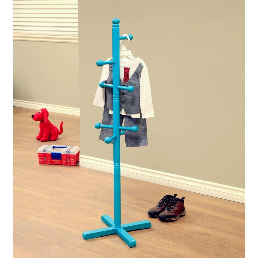 Home Craft 8-Hooks Kid's Coat Rack in Blue