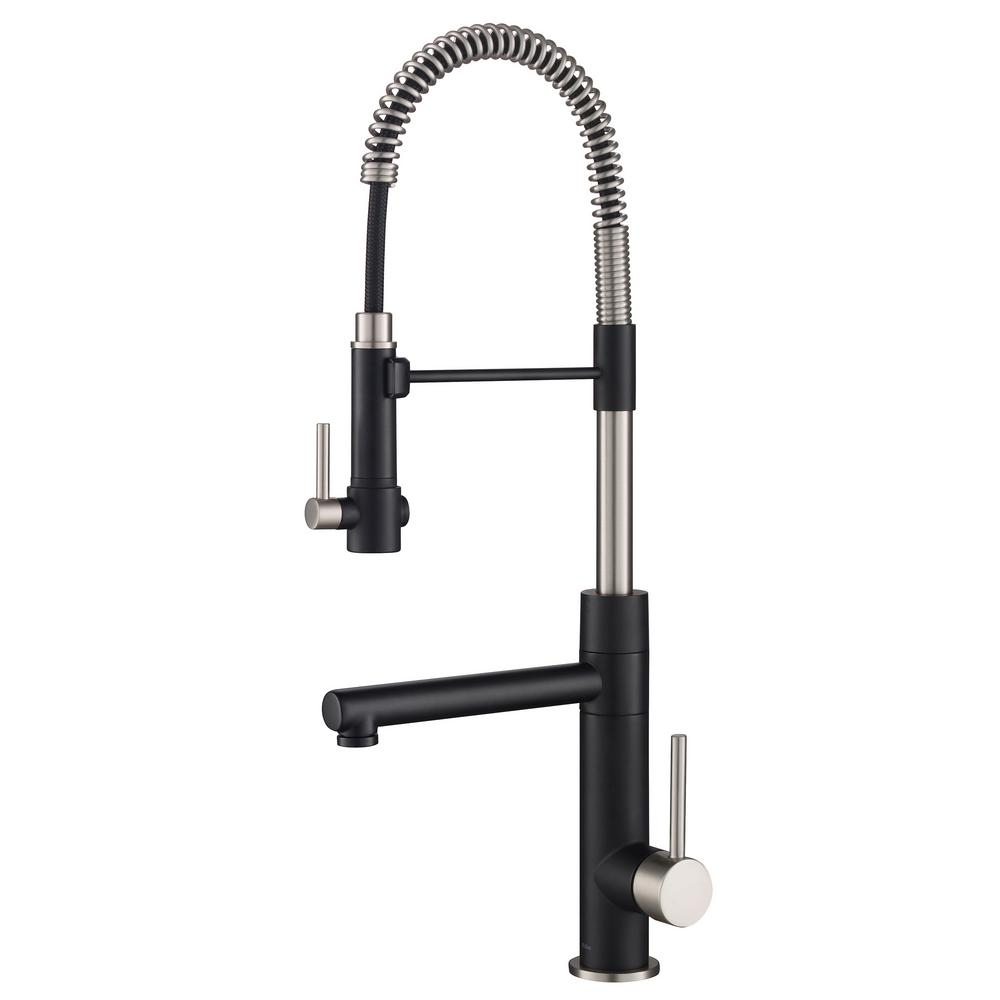 Kraus Artec Pro Single Handle Pull Down Sprayer Kitchen Faucet And