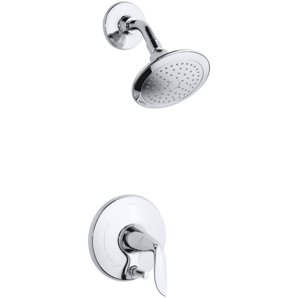 KOHLER Refinia 1-Handle Shower Faucet Trim Kit with Push-Button Diverter in Polished Chrome (Valve Not Included)