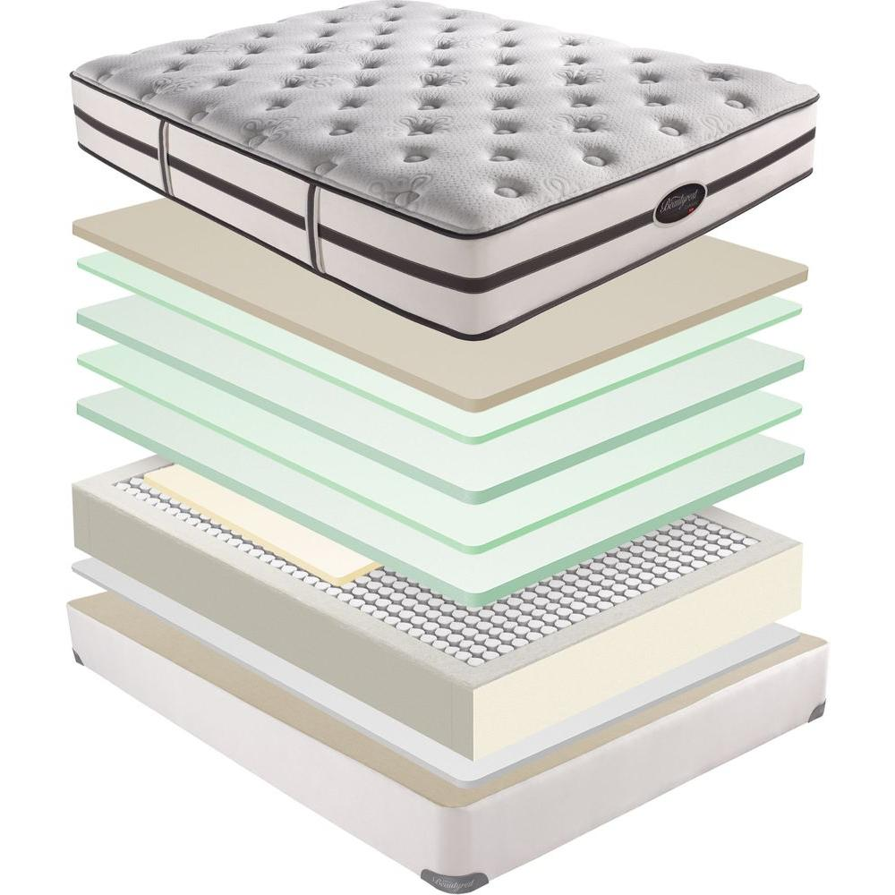 Simmons Beautyrest Hardpoint Plush Mattress Set (Price Varies By Size) - DISCONTINUED