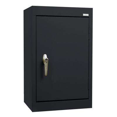 26 in. H x 18 in. W x 12 in. D Wall Cabinet in Black