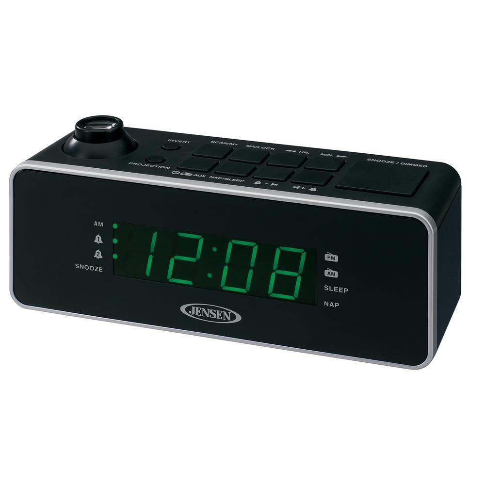 JENSEN Dual Alarm Projection Clock Radio by JENSEN