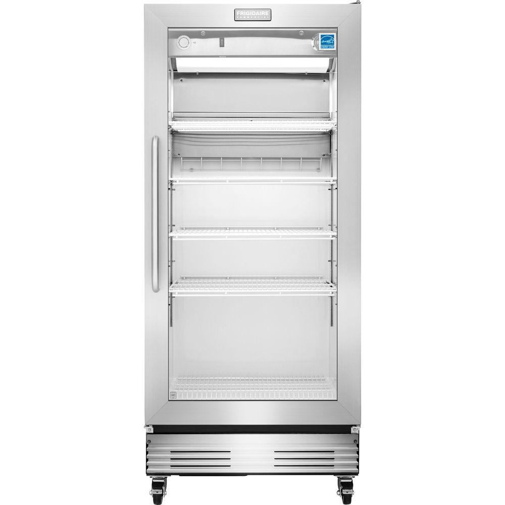 Commercial refrigerators refrigerators the home depot food service grade glass door merchandiser refrigerator in stainless steel planetlyrics Choice Image
