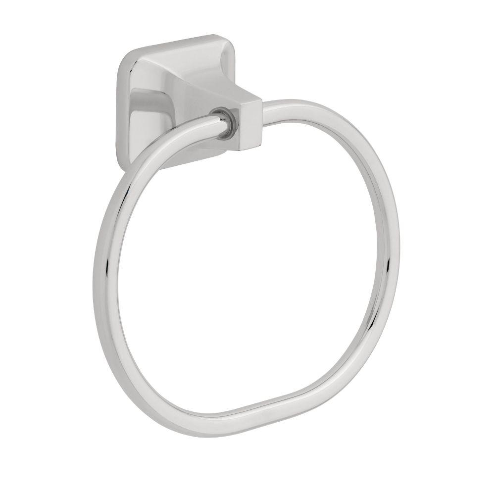 Futura Towel Ring in Polished Chrome