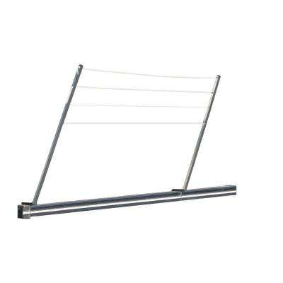 48 in. Long Bumper Mount Versatile Clothers Line in Aluminum