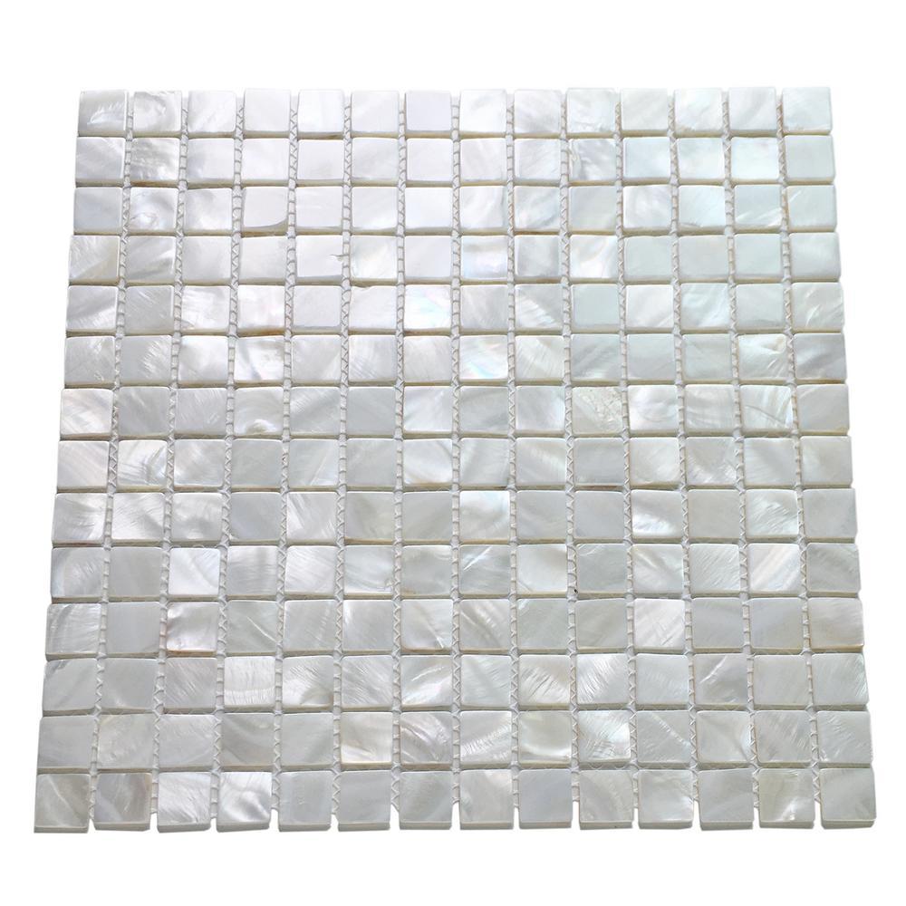 Art 12 In X Mother Of Pearl Shell Mosaic Tile Backsplash White