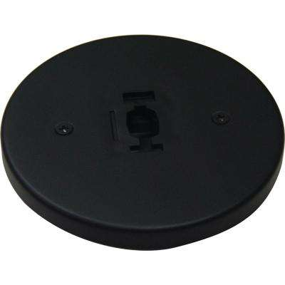 Black Monopoint Canopy for Compatible Volume Lighting Track Heads