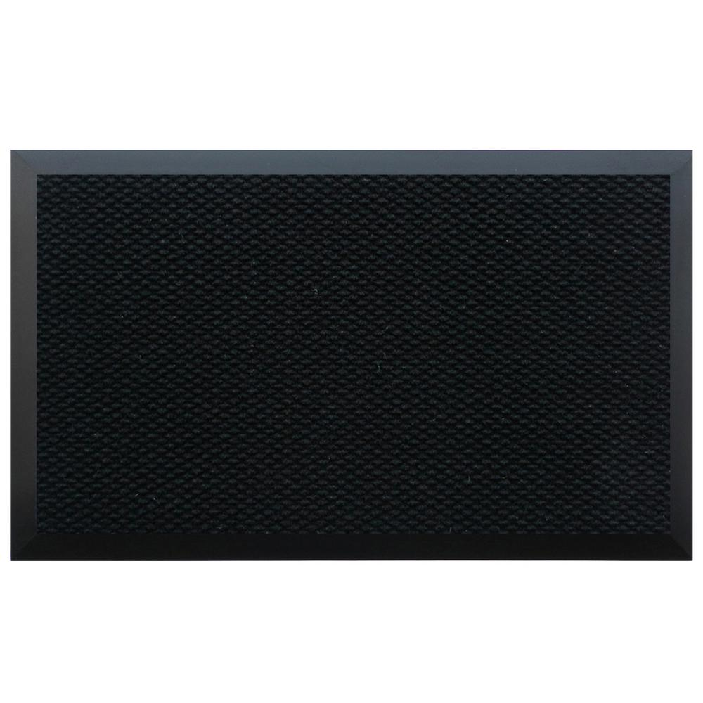Black 48 in. x 144 in. Teton Residential Commercial Mat