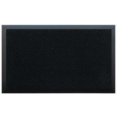 Black 72 in. x 144 in. Teton Residential Commercial Mat