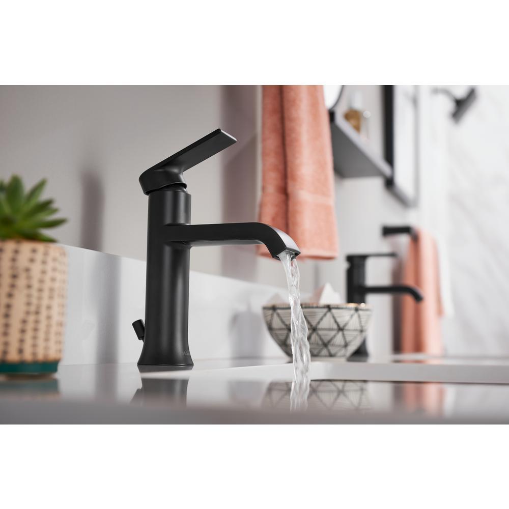Genta Single Hole Single-Handle Bathroom Faucet in Matte Black