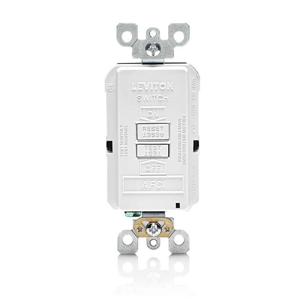 20 Amp SmartlockPro Arc Fault Circuit Interrupter (AFCI) Blank Face Outlet,