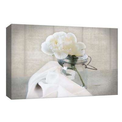 10 in. x 12 in. ''Mason Jar Bloom I'' By PTM Images Canvas Wall Art