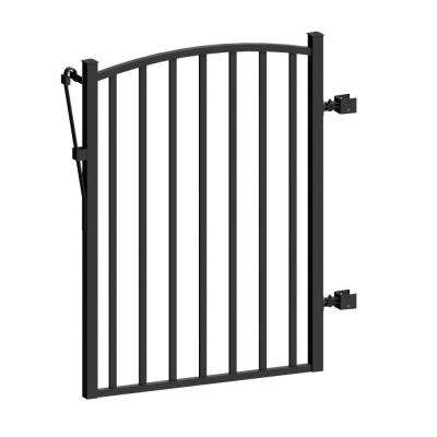 Aquatine 3 ft. x 4 ft. Black Aluminum Fence Yard Gate
