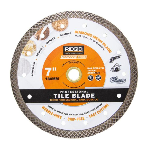 7 in. Turbo Mesh Rim Diamond Blade