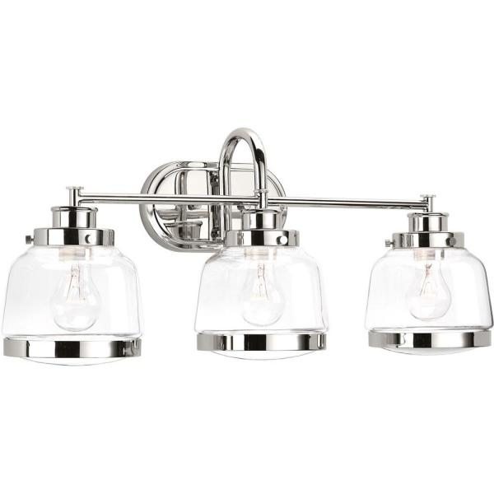 Judson Collection 3-Light Polished Nickel Bath Light