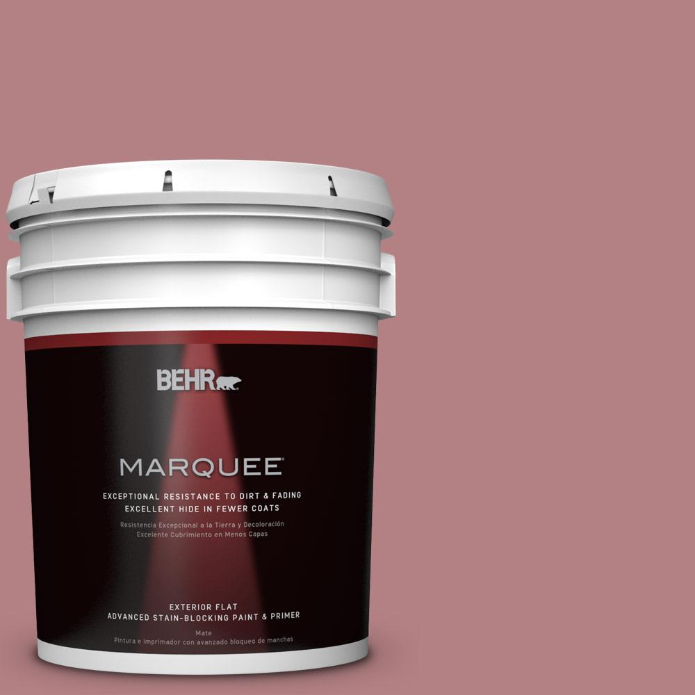 BEHR MARQUEE 5-gal. #T14-15 Minuet Rose Flat Exterior Paint