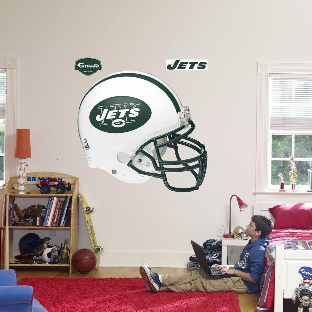 Fathead 57 in. x 51 in. New York Jets Helmet Wall Decal