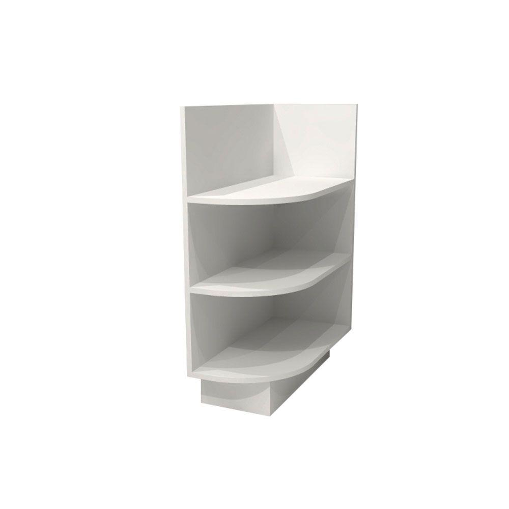 Home Decorators Collection Newport Pacific White Assembled 12x34.5x24 in. Right End Base Kitchen Open Shelf
