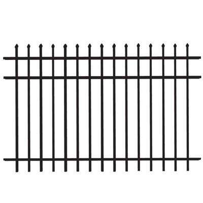 Cascade Standard-Duty 4 ft. H x 6 ft. W Black Aluminum Pre-Assembled Fence Panel