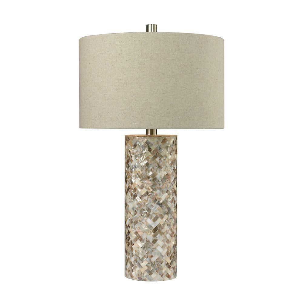 Titan Lighting Herringbone 29 In Natural Mother Of Pearl
