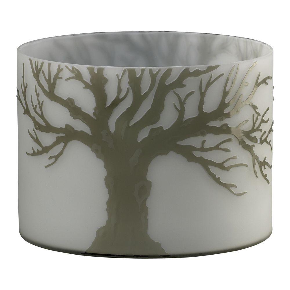 Filament Design Prospect 6.75 in. x 9 in. Acid White And Smoke Vase