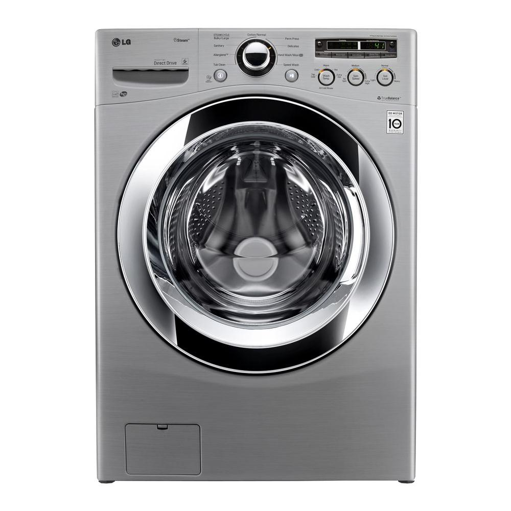 LG Electronics 4.0 DOE cu. ft. High-Efficiency Front Load Washer with Steam in Graphite Steel, ENERGY STAR
