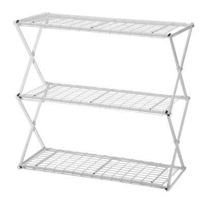 Exy 3-Tier Powder Coated Steel Tube Shelving in White