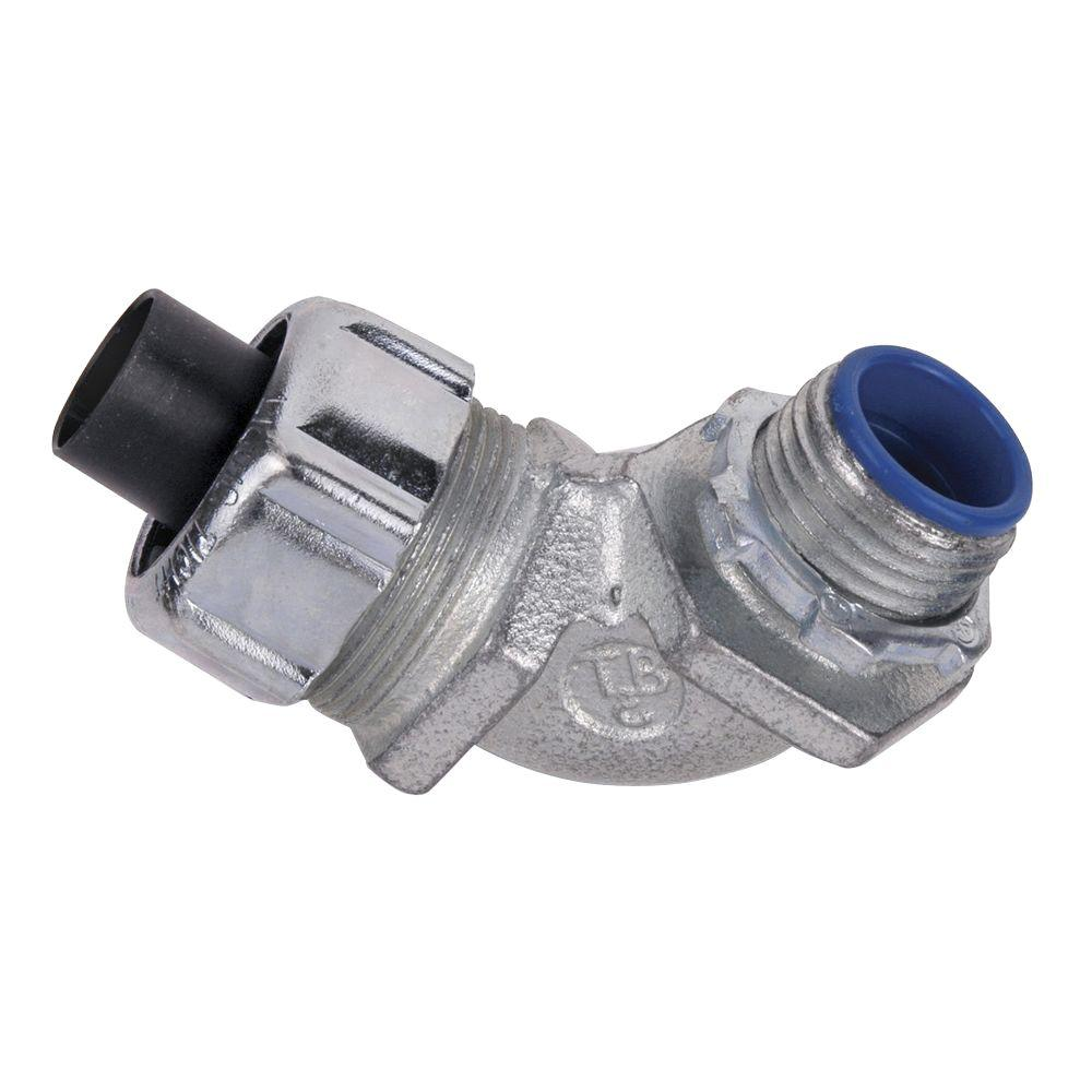 3/4 in. 90 Degree Insulated Metal Liquidtight Connector (10 per Case)
