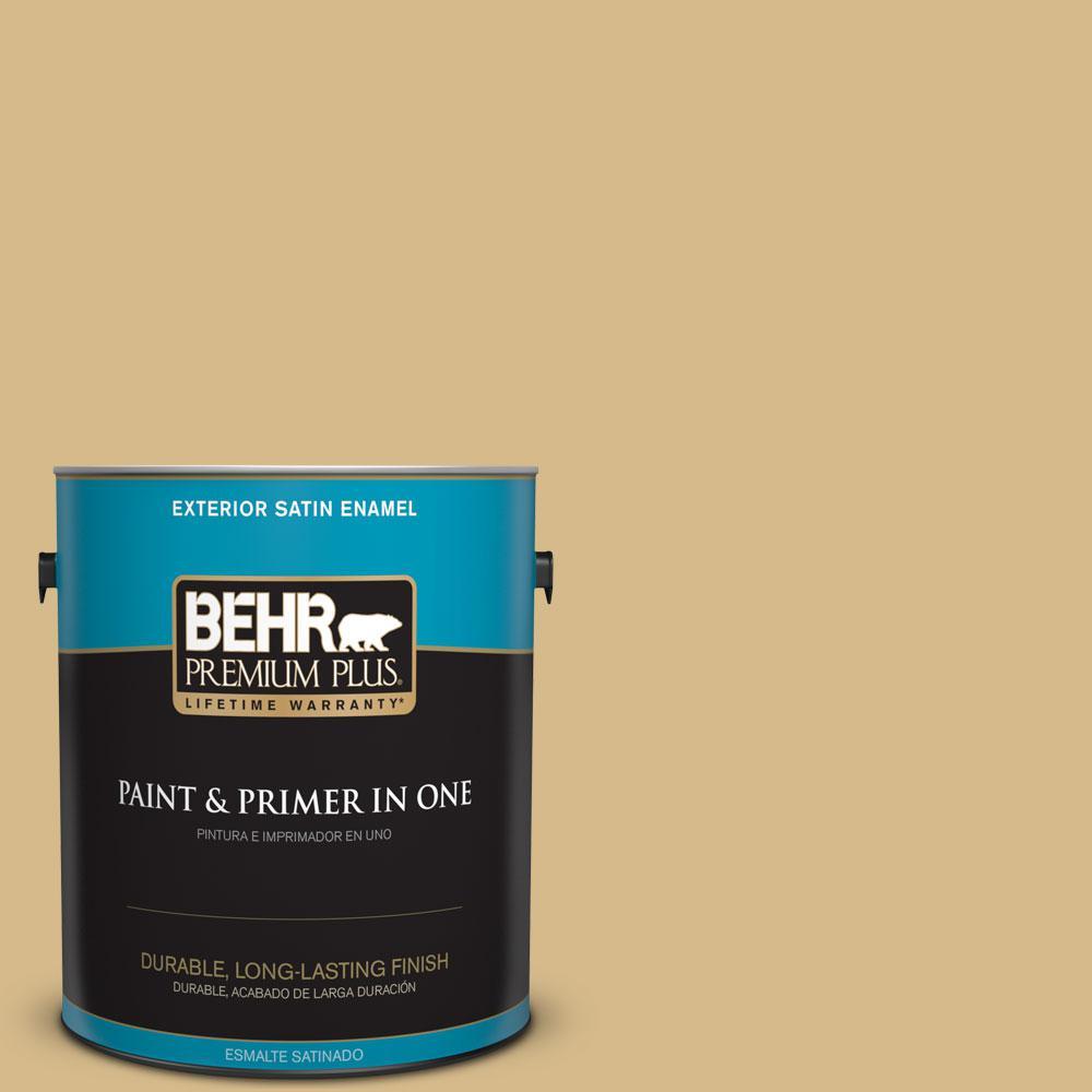 Behr Premium Plus 1 Gal 350f 5 Camel Satin Enamel Exterior Paint