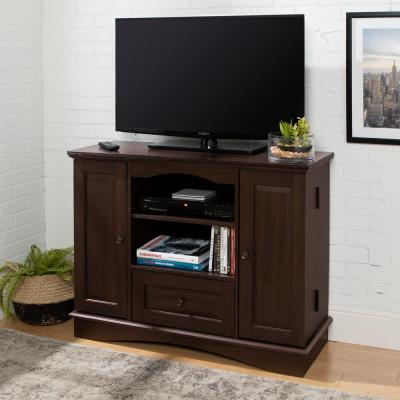 Laguna 42 in. Espresso Wood TV Stand with 1 Drawer Fits TVs Up to 48 in. with Doors