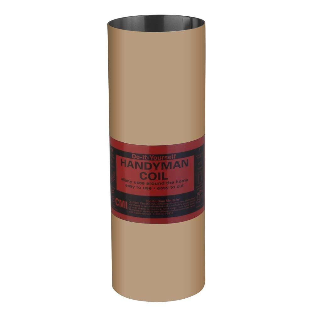 20 in. x 10 ft. 29 Gauge Mocha Tan Galvanized Roll