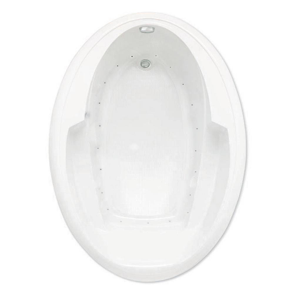 Ariel I 60 in.Acrylic Reversible Drain Oval Drop-In Air Bath Tub